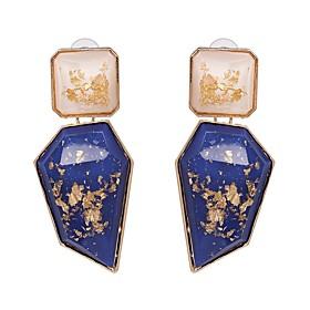 Women's Drop Earrings Resin Earrings Hyperbole Jewelry Red / Green / Blue For Wedding Evening Party Carnival Club Bar 1 Pair