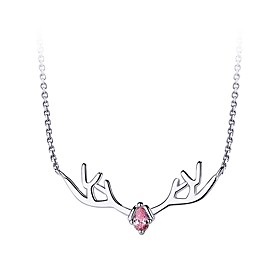 Women's Pendant Necklace Necklace Silver White Blue Pink 1.5 cm Necklace Jewelry 1pc For Gift Daily Date Valentine Festival