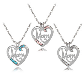 Women's Cubic Zirconia Name Pendant Necklace Imitation Diamond Heart Letter Fashion Modern Cute Cute White Blue Pink 455 cm Necklace Jewelry 1pc For Daily Goin