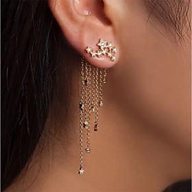 Women's Front Back / Ear Jacket Earrings Imitation Diamond Earrings Statement Jewelry Gold / Silver For Wedding Party Carnival New Year Bar 1 Pair