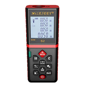 MILESEEY S2 40m Laser distance meter Handheld Design / Easy to Use / High Quality for smart home measurement / for engineering measurement / for building Const