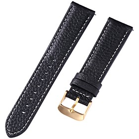 Genuine Leather / Leather / Calf Hair Watch Band Strap for Black 17cm / 6.69 Inches / 18cm / 7 Inches / 19cm / 7.48 Inches 1cm / 0.39 Inches / 1.2cm / 0.47 Inc