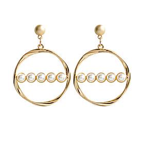Women's Stud Earrings Drop Earrings Hoop Earrings Earrings Geometric Classic Jewelry Gold For Daily Formal 1 Pair