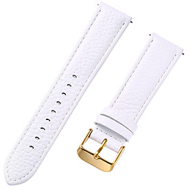 Genuine Leather / Leather / Calf Hair Watch Band Strap for White 17cm / 6.69 Inches / 18cm / 7 Inches / 19cm / 7.48 Inches 1cm / 0.39 Inches / 1.2cm / 0.47 Inc