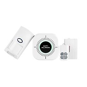 CS100 Wireless Wifi Network Burglar Alarm Wireless Wifi Door and Window infrared Alarm PIR  Home Alarm Systems / Smoke  Gas Detectors WIFI iOS