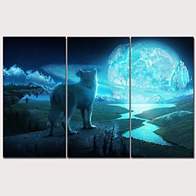Print Rolled Canvas Prints Stretched Canvas Prints - Animals Arts, Crafts  Sewing Classic Modern Three Panels