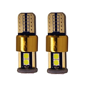 2pcs T10 / W5W Car Light Bulbs 2 W SMD 2835 200 lm 6 LED License Plate Lights / Tail Lights / Interior Lights For universal All years