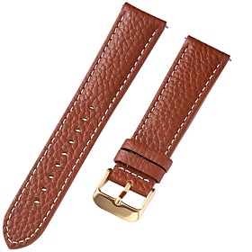 Genuine Leather / Leather / Calf Hair Watch Band Strap for Brown 20cm / 7.9 Inches 1cm / 0.39 Inches / 1.2cm / 0.47 Inches / 1.3cm / 0.5 Inches