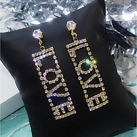 Women's Drop Earrings Imitation Diamond Earrings Cute Jewelry Gold / Silver For Wedding Party Engagement Valentine 1 Pair
