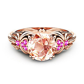 Women's Cubic Zirconia Classic Ring Rose Gold Plated Stylish Luxury European Ring Jewelry Rose Gold For Wedding Party Gift Date 6 / 7 / 8 / 9 / 10
