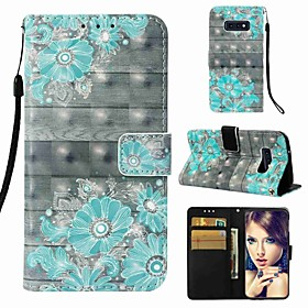 Case For Samsung Galaxy S9 Plus / S8 Wallet / Card Holder / Flip Full Body Cases Flower Hard PU Leather for S9 / S9 Plus / S8 Plus