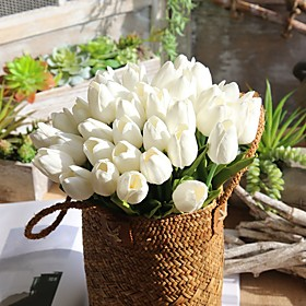 Artificial Flowers 1 Branch Single Modern Contemporary Simple Style Tulips Tabletop Flower