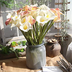 Artificial Flowers 1 Branch Single Modern Contemporary Simple Style Calla Lily Tabletop Flower