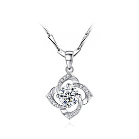 Women's Pendant Necklace Necklace S925 Sterling Silver Silver 10 cm Necklace Jewelry 1pc For Gift Daily Date Valentine Festival