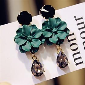 Women's Drop Earrings Imitation Diamond Earrings Elegant Jewelry Black / Green For Wedding Party Street Going out Club 1 Pair