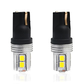 2pcs T10 Car Light Bulbs 5 W SMD 2835 350 lm 10 LED License Plate Lights / Tail Lights / Interior Lights For universal All years