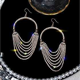 Women's Long Drop Earrings Imitation Diamond Earrings Hyperbole Jewelry Gold / Silver For Wedding Party Evening Party Club Bar 1 Pair