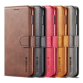 Nillkin Case For Samsung Galaxy Galaxy S10 / Galaxy S10 Plus Wallet / Card Holder / with Stand Full Body Cases Solid Colored Hard PU Leather for S9 / S9 Plus /