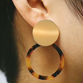 Women's Coin Drop Earrings Earrings European Fashion Modern Jewelry Black / Coffee / Pink For Daily Street Club Bar 1 Pair