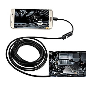 7MM USB Endoscope 10M Hard Cable Waterproof IP67 Inspection Borescope Snake Camera for Android PC