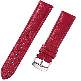 Genuine Leather / Leather / Calf Hair Watch Band Strap for Red 17cm / 6.69 Inches / 18cm / 7 Inches / 19cm / 7.48 Inches 1cm / 0.39 Inches / 1.2cm / 0.47 Inche