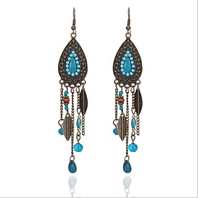 Women's Tassel Drop Earrings Dangle Earrings Resin Earrings Drop Vintage Boho Folk Style Jewelry Black / Red / Blue For Party Street 1 Pair