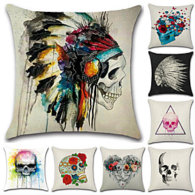8 pcs Cotton / Linen Pillow Case, 3D Print Novelty Artwork Antique Punk