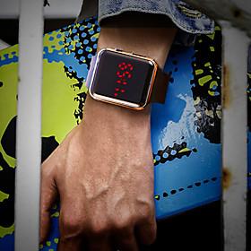 Men's Wrist Watch Digital Silicone Black Water Resistant / Waterproof LCD Digital Fashion Colorful - Silver Purple Rose Gold