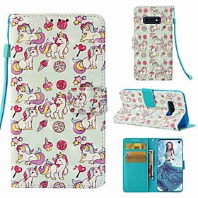 Case For Samsung Galaxy S9 Plus / S8 Wallet / Card Holder / Flip Full Body Cases Unicorn Hard PU Leather for S9 / S9 Plus / S8 Plus