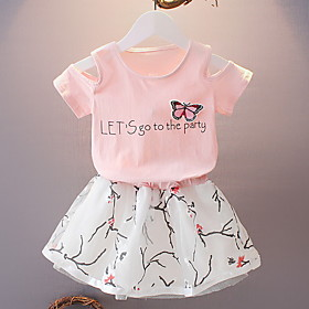 Kids Girls' Basic Print Short Sleeve Clothing Set White Fabric:Polyester; Sleeve Length:Short Sleeve; Gender:Girls'; Style:Basic; Kids Apparel:Clothing Set; Age Group:Kids; Pattern:Print; Front page:FF; Listing Date:12/05/2019; Bust:; Length [Bottom]:; Length [Top]:; Popular Country:United States; Special selected products:COD