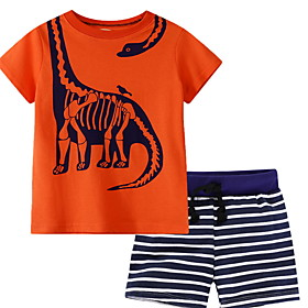 Kids Boys' Basic Cartoon Short Sleeve Clothing Set Orange Fabric:Polyester; Sleeve Length:Short Sleeve; Gender:Boys'; Style:Basic; Kids Apparel:Clothing Set; Age Group:Kids; Pattern:Cartoon; Front page:FF; Listing Date:01/17/2020; Bust:; Length [Bottom]:; Length [Top]:; Popular Country:United States; Special selected products:COD