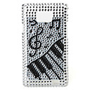 Stylish Piano Pattern Protective Hard Case with Crystal for Samsung i9100