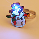 Cartoon LED Flashing Ring (Snowman)