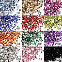 50 Types de Strass pour Décoration d'Ongles, Nail Art, 2mm