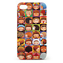 Girls Expression Pattern Protective Case for iPhone 4 and 4S (Brown)