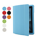 Slim Soft Smart PU Leather Cover Hard Plastic Case for iPad 2/3/4 (Assorted Colors)