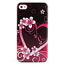 Protective Retro Style Polycarbonate Case for iPhone 4 and 4S (Flower)