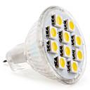 MR11 5050 SMD 10-LED Warm White 100-120LM Light Bulb (12V, 1.5-2W)