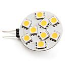 G4 2-2.5W 9x5050 SMD 90-100LM 2800-3200K Warm White Light LED Spot Bulb (12V)
