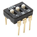 3 Positions Toggle Switch (2.54mm Space Separation, 10 Pieces a Pack)