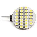 G4 1-1.5W 24x3528 SMD 50-60LM 6000-6500K Natural White Light LED Spot Bulb (12V)