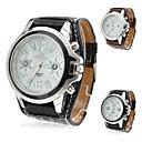 Unisexs PU Analog Quartz Wrist Watch (Assorted Colors)