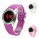 Men's Casual Silicone Digital Touch LED Wrist Watch (Assorted Colors)