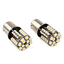 1156 441210 SMD CANBUS White LED Car Signal Lights (2-Pack, DC 12V)