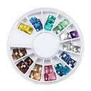 Quadrate Jewel Style Nail Act Nail Decorations