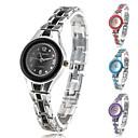 Womens Fashionable Style Alloy Analog Quartz Bracelet Watch (Multi-Colored)