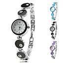 Womens Fashionable Style Alloy Analog Quartz Bracelet Watch (Assorted Colors)