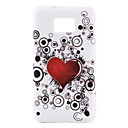 Lovely Heart Pattern TPU Case for Samsung Galaxy S2 I9100 (Multi-Color)