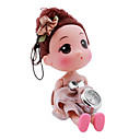 Childrens Dolls Style Alloy Analog Quartz Keychain Watch (Brown)