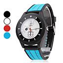 Da uomo Da donna Unisex Orologio sportivo Creativo unico orologio Giapponese Quarzo Gomma Banda Nero Blu Rosso Bianco Nero Rosso Blu